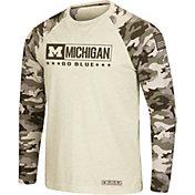 Colosseum Men's Michigan Wolverines Camo OHT Long Sleeve Shirt