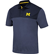 Colosseum Men's Michigan Wolverines Blue Links Polo