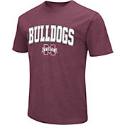 Colosseum Men's Mississippi State Bulldogs Maroon Dual Blend T-Shirt