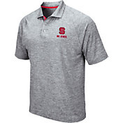 Colosseum Men's NC State Wolfpack Grey Wedge Polo