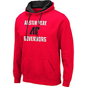 Colosseum Men's Austin Peay Governors Red Pullover Hoodie