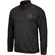 Colosseum Men's Texas A&M Aggies Slub Quarter-Zip Black Shirt