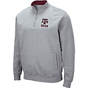 Colosseum Men's Texas A&M Aggies Grey Fleece Quarter-Zip Shirt