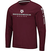 Colosseum Men's Texas A&M Aggies Maroon Blitzgiving Long Sleeve T-Shirt