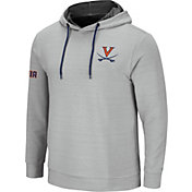 Colosseum Men's Virginia Cavaliers Grey Stake Out Pullover Hoodie
