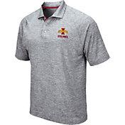 Colosseum Men's Iowa State Cyclones Grey Wedge Polo