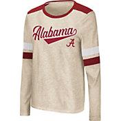 Colosseum Women's Alabama Crimson Tide Oatmeal Itchy Brain Long Sleeve T-Shirt