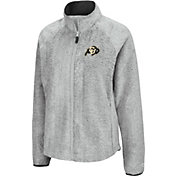 Colosseum Women's Colorado Buffaloes Grey Astronomy Full-Zip Jacket