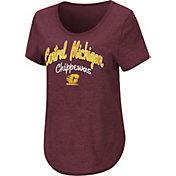 Colosseum Women's Central Michigan Chippewas Maroon Rule Breaker T-Shirt