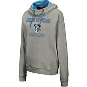 Colosseum Women's Johns Hopkins Blue Jays Grey Pullover Hoodie