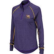 Colosseum Women's LSU Tigers Purple Stingray Quarter-Zip Shirt