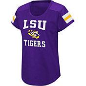 Colosseum Women's LSU Tigers Purple Football Dolman T-Shirt