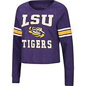 Colosseum Women's LSU Tigers Purple Whimsical Long Sleeve T-Shirt