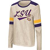 Colosseum Women's LSU Tigers Oatmeal Itchy Brain Long Sleeve T-Shirt