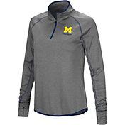 Colosseum Women's Michigan Wolverines Charcoal Stingray Quarter-Zip Shirt