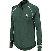 Colosseum Women's Michigan State Spartans Green Stingray Quarter-Zip Shirt
