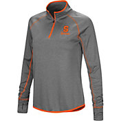 Colosseum Women's Syracuse Orange Charcoal Stingray Quarter-Zip Shirt