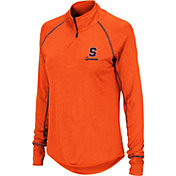 Colosseum Women's Syracuse Orange Orange Stingray Quarter-Zip Shirt
