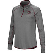 Colosseum Women's Texas A&M Aggies Charcoal Stingray Quarter-Zip Shirt