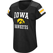 Colosseum Women's Iowa Hawkeyes Football Dolman Black T-Shirt