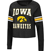 Colosseum Women's Iowa Hawkeyes Whimsical Long Sleeve Black T-Shirt