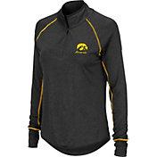 Colosseum Women's Iowa Hawkeyes Stingray Quarter-Zip Black Shirt