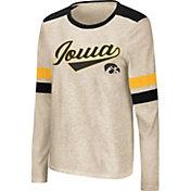 Colosseum Women's Iowa Hawkeyes Oatmeal Itchy Brain Long Sleeve T-Shirt