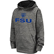 Colosseum Youth Fayetteville State Broncos Grey Pullover Hoodie