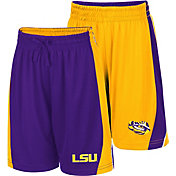 Colosseum Youth LSU Tigers Purple/Gold Dino Reversible Shorts
