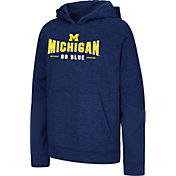 Colosseum Youth Michigan Wolverines Blue Pods Pullover Fleece Hoodie