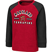 Colosseum Toddler Maryland Terrapins Red Squidward Long Sleeve T-Shirt