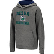 Colosseum Youth Notre Dame Fighting Irish Heather Grey Pullover Hoodie
