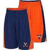 Colosseum Youth Virginia Cavaliers Blue/Orange Dino Reversible Shorts