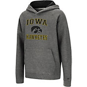 Colosseum Youth Iowa Hawkeyes Heather Grey Pullover Hoodie