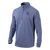 Columbia Men's New York City FC Soar Quarter-Zip Navy Pullover Shirt