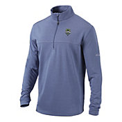 Columbia Men's Seattle Sounders Soar Quarter-Zip Navy Pullover Shirt