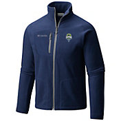 Columbia Men's Seattle Sounders Fast Trek II Navy Full-Zip Jacket