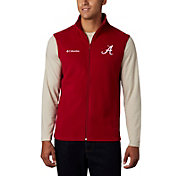 Columbia Men's Alabama Crimson Tide Crimson Flanker Full-Zip Fleece Vest II