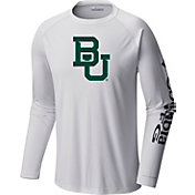 Columbia Men's Baylor Bears Terminal Tackle Long Sleeve White T-Shirt