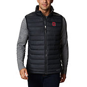 Columbia Men's Ohio State Buckeyes Powder Lite Full-Zip Black Vest