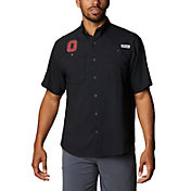Columbia Men's Ohio State Buckeyes Tamiami Performance Black Shirt