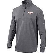Columbia Men's Virginia Tech Hokies Black Omni-Wick Soar Half-Zip Pullover Shirt