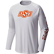 Columbia Men's Oklahoma State Cowboys Terminal Tackle Long Sleeve White T-Shirt