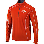 Columbia Men's Oklahoma State Cowboys Orange Shotgun Quarter-Zip Shirt