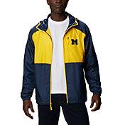 Columbia Men's Michigan Wolverines Blue Flash Forward Full-Zip Jacket
