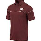 Columbia Men's Mississippi State Bulldogs Maroon Breaker Performance Polo