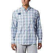 Columbia Men's North Carolina Tar Heels Carolina Blue Long Sleeve Tamiami Shirt