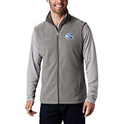 Columbia Men's North Carolina Tar Heels Grey Flanker Full-Zip Fleece Vest II