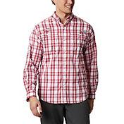 Columbia Men's Arkansas Razorbacks Cardinal Long Sleeve Tamiami Shirt