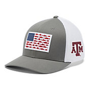 Columbia Men's Texas A&M Aggies Grey PFG Fish Flag Mesh Fitted Hat